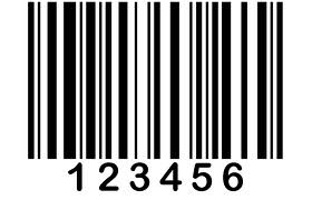Font tags for barcode